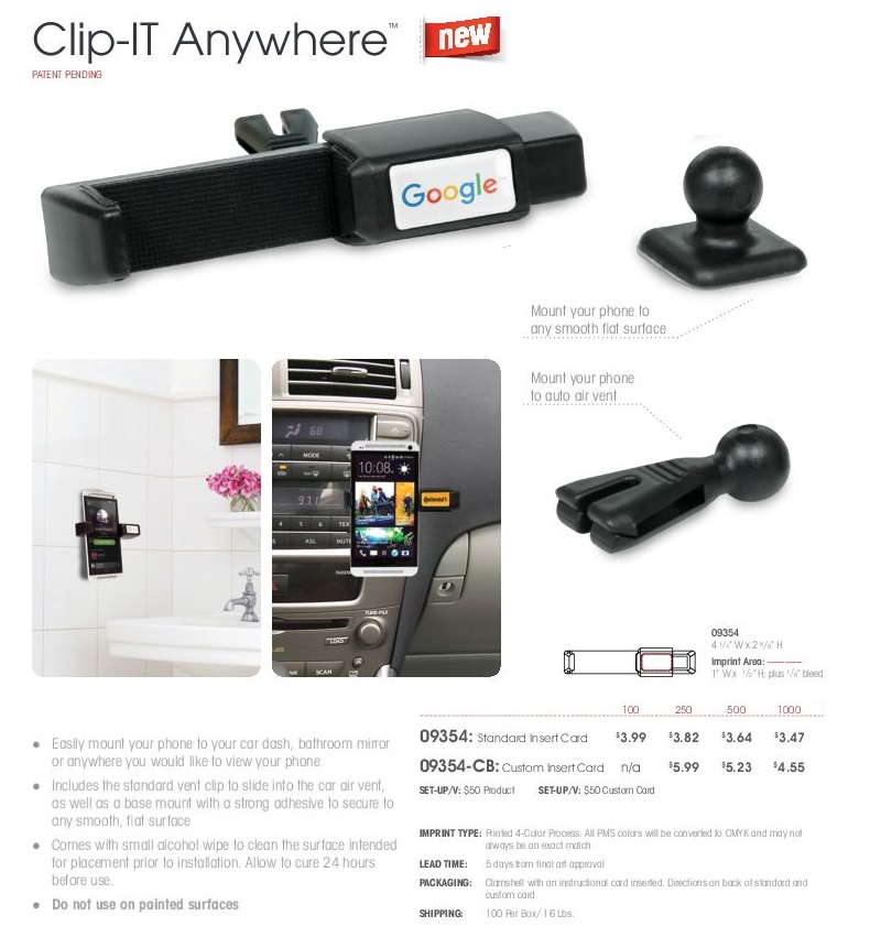 ClipIT Auto Cell Phone Holder for Car