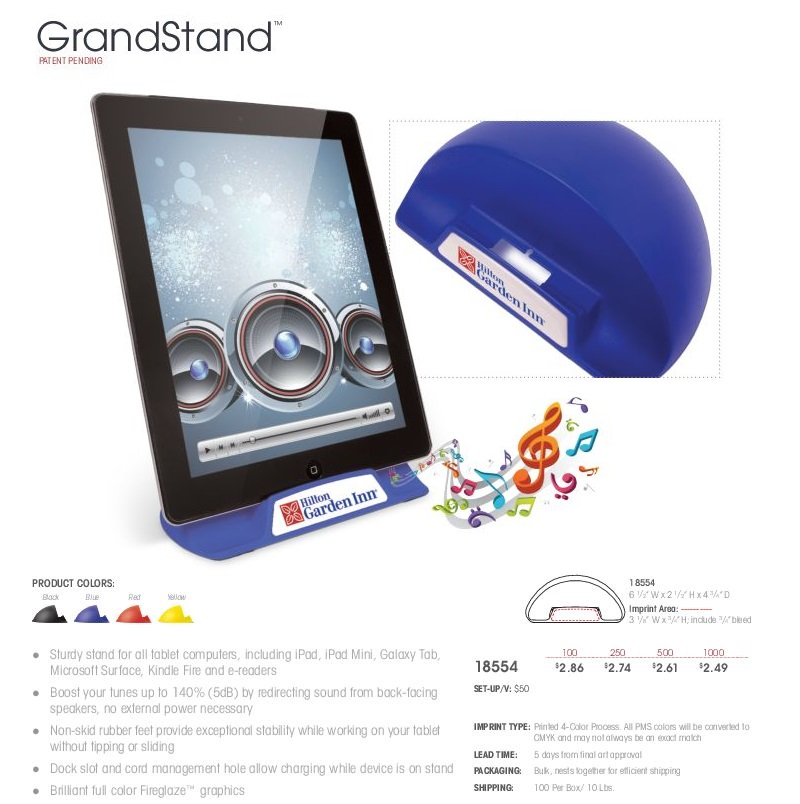 Grandstand Tablet Holder
